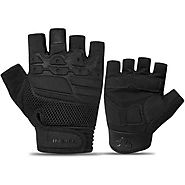 INBIKE Shockproof Men Black Half Finger Cycling Gloves with EVA Pad – Geareach