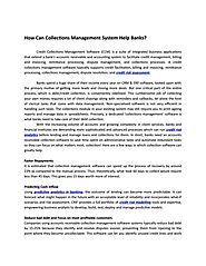 How Can Collections Management System Help Banks? by Crif India - Issuu