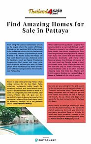 Find Amazing Homes for Sale in Pattaya