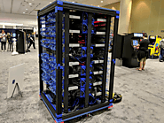 This little supercomputer is based on a cluster of 1060 Rasberry Pi