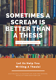 Is Thesis Writing Your Nightmare?