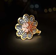 Buy This Circular Flower Shaped Italian Gold Ring Online
