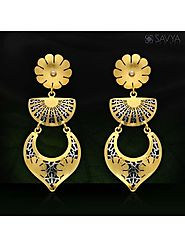 Buy These Beautifully Designed Italian Gold Hanging Earrings