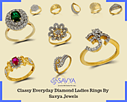 Classy Everyday Diamond Ladies Rings By Savya Jewels