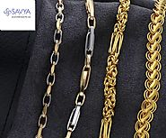 Platinum And Gold Chains For Men By Savya Jewels
