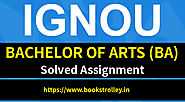 IGNOU BA Solved Assignments 2018-19 | Books Trolley