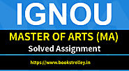 IGNOU MA Solved Assignments 2018-19 | Books Trolley