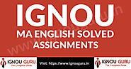 IGNOU MA English Solved Assignments 2019-20 | IgnouGuru.in