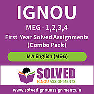 IGNOU MA English MEG (1,2,3,4) Solved Assignment 2019-20 (Combo Pack)