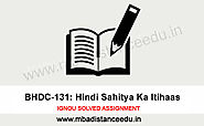 IGNOU BHDC 131 Solved Assignment 2019-20 - Distance Education