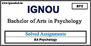 IGNOU BA Psychology Solved Assignments 2019-20 | Ignouhub.in