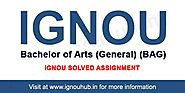 IGNOU BAG Solved Assignment 2019-20 - IGNOU HUB