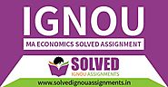 IGNOU MA Economics Solved Assignment 2019-20 - Solved IGNOU Assignments