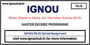 IGNOU MLIS Solved Assignment 2019-20 - IGNOU HUB