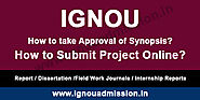 How to submit IGNOU Project Online?