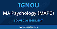 IGNOU MAPC Solved Assignment 2019-20 | IGNOU LOGIN