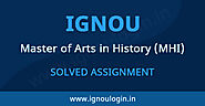 IGNOU MA History Solved Assignment 2019-20 | IGNOU LOGIN