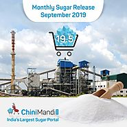 Govt Fixes 19.5 LMT Monthly Sugar Quota for Sale in September 2019 - ChiniMandi