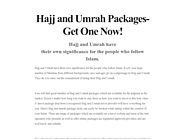 Hajj and Umrah Packages- Get One Now!