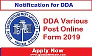 DDA Various Posts Recruitment 2019