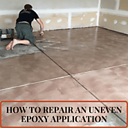 How to Repair An Uneven Epoxy Application - Epoxy Central