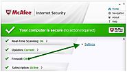 How to manage firewall programs and permissions in McAfee?