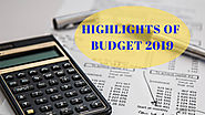 HIGHLIGHTS OF BUDGET 2019 - India Budget