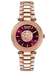 Versus by Versace Women's 'BRICK LANE' Quartz Stainless Steel Casual Watch, Color:Rose Gold-Toned (Model: S64070016)