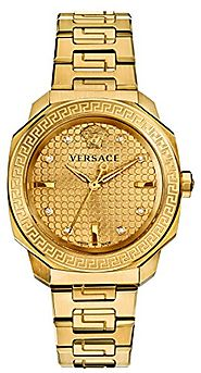 Versace Women's VQD060015 Dylos Analog Display Swiss Quartz Gold-Plated Watch