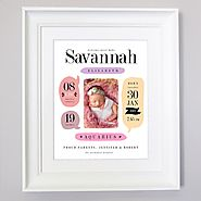 Blurb Birth | Sentiment Gift Frame | Wall Art | domore.ie