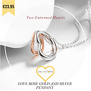Love Rose Gold and Silver Pendant - Eva Victoria