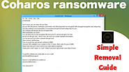Easy steps to eliminate Coharos ransomware virus from the system easily