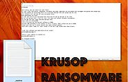 How to delete Krusop ransomware virus from the PC quickly