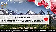 Alberta Continues Processing Immigration Applications