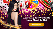 Everything You Wanted to Know About 3D Slot
