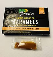 Paradise Hemp-Infused CBD Caramels | CBD Edibles | Pot Valet
