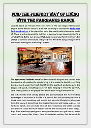 Find the Perfect Way of Living With the Fairbanks Ranch | edocr