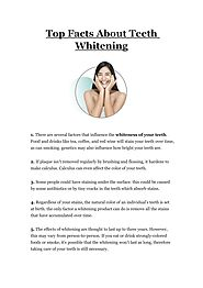 PPT - Top Facts About Teeth Whitening PowerPoint Presentation, free download - ID:10102537