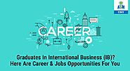 Top 10 Career & Jobs opportunities After International Business | CSIT