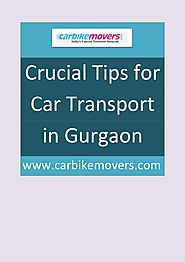 Trusted and Verified Car Transport in Gurgaon