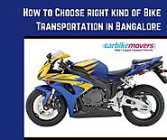 Verified Bike Transport Services in Bangalore