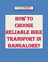 Easy Bike Transport in Bangalore