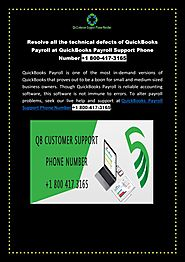 Resolve all the technical defects of QuickBooks Payroll at QuickBooks Payroll Support Phone Number + by Alex Harry - ...