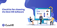Checklist for choosing the Best HR Software. - CuteHR