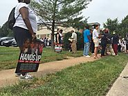 "ᴅʀᴇᴡ ᴡᴇsᴛʜᴀᴜs on Twitter: ""Many brought their own signs, organizers handing out posters that read ""HANDS UP"" w/ calen..."
