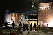 "ᴅʀᴇᴡ ᴡᴇsᴛʜᴀᴜs on Twitter: ""Then and now: Ferguson PD headquarters. Barricades remain, chalk writings echo messages fr..."