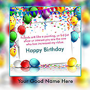 Happy Birthday Images With Photo Name
