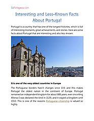 Interesting and Less-Known Facts About Portugal