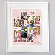 We Love you Grandma - Personalised family photo frame.