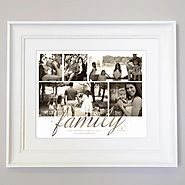 Just Family Photo Collage Wall Art - Domore Pictures